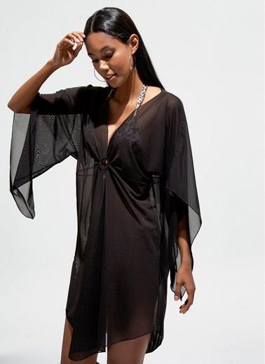 Loves You Plaj Elbisesi Siyah